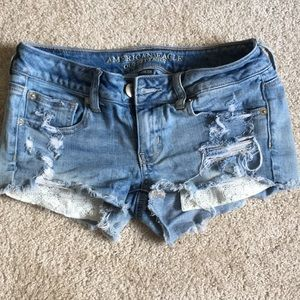 American Eagle Ripped Jean Shorts Size 2